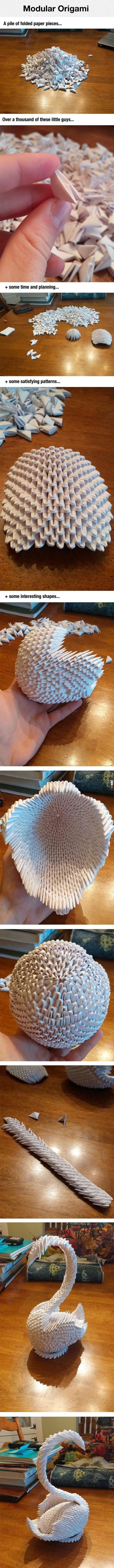 Papierowy łabędź