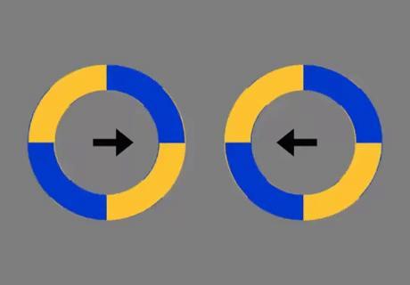 Kółka nie zmieniają swojej pozycji, wyłącznie się kręcą