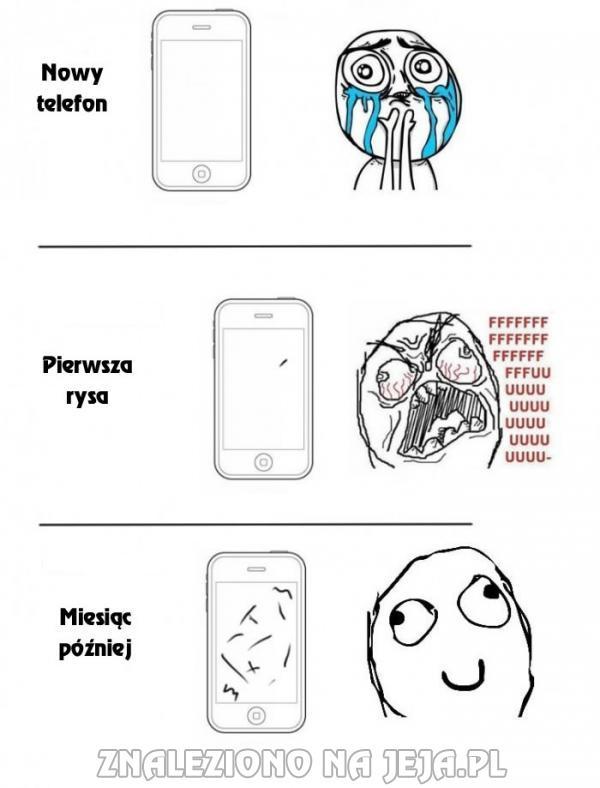 Rysy na telefonie