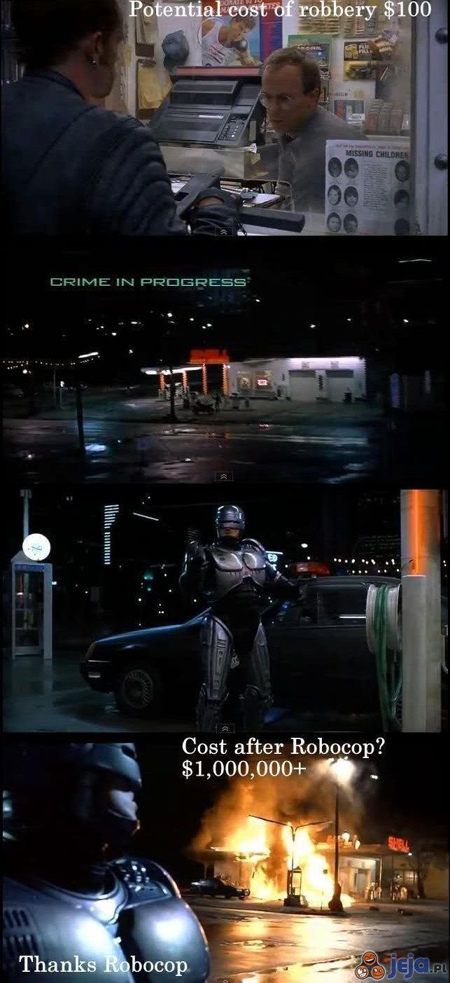 Robocop walczy z przestępczością
