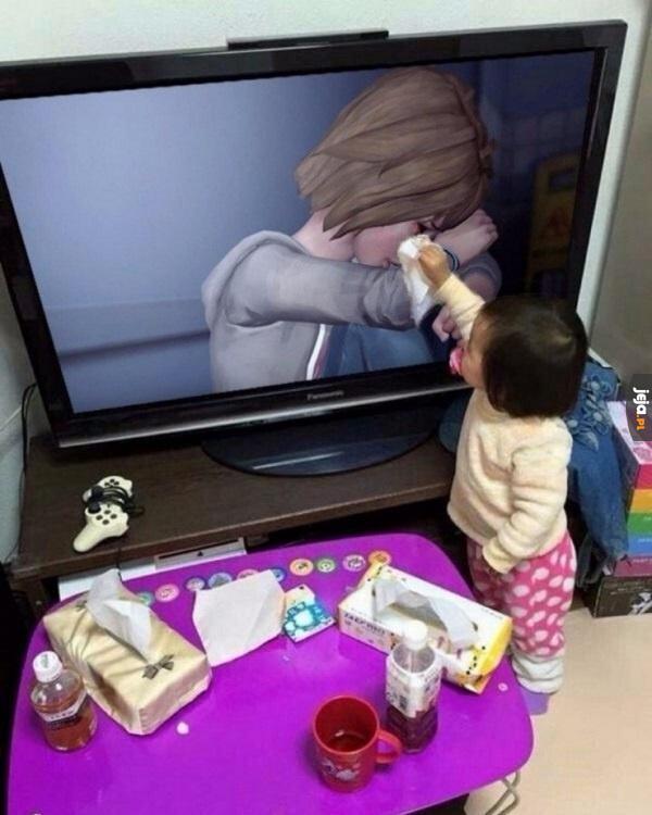 Proszę, nie płacz, będzie dobrze!