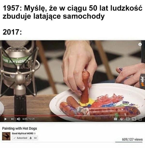 Malowanie hot dogami