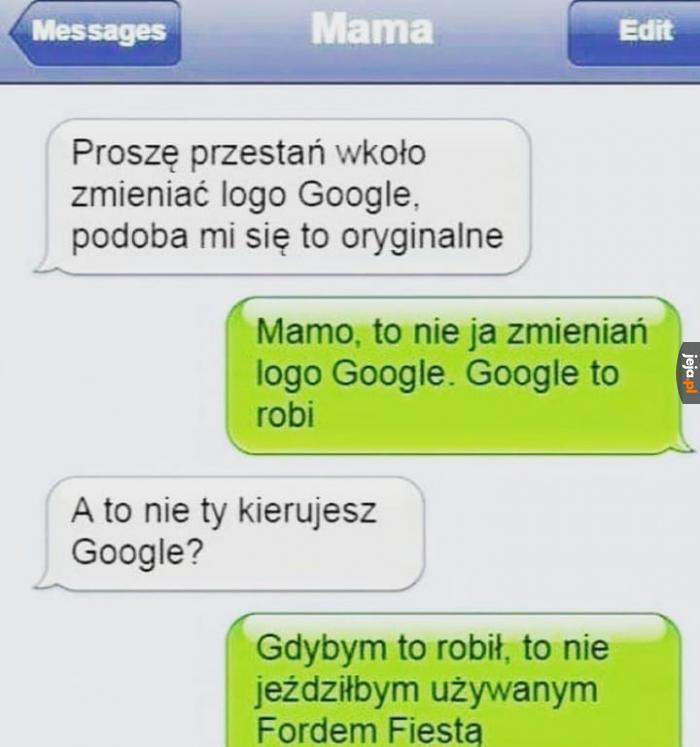 Mój synek pracuje w Google