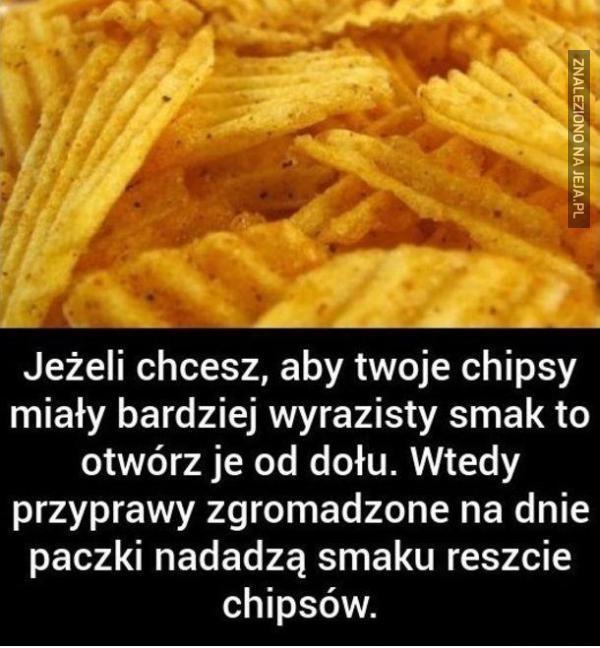 Jak porządnie wtrąbić chipsy