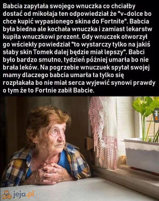 Biedna babcia
