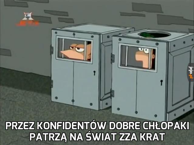 Czemu Ferb ma dziurę w klatce?