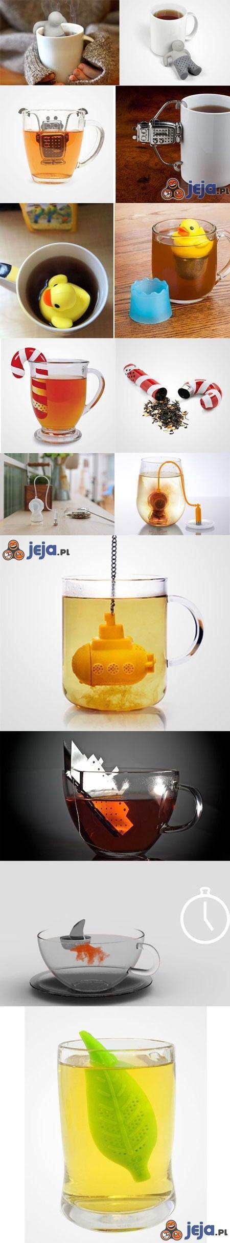 Oryginalne zaparzacze do herbaty