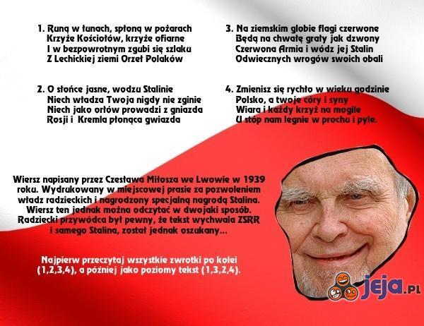 Wiersz Czesława Miłosza
