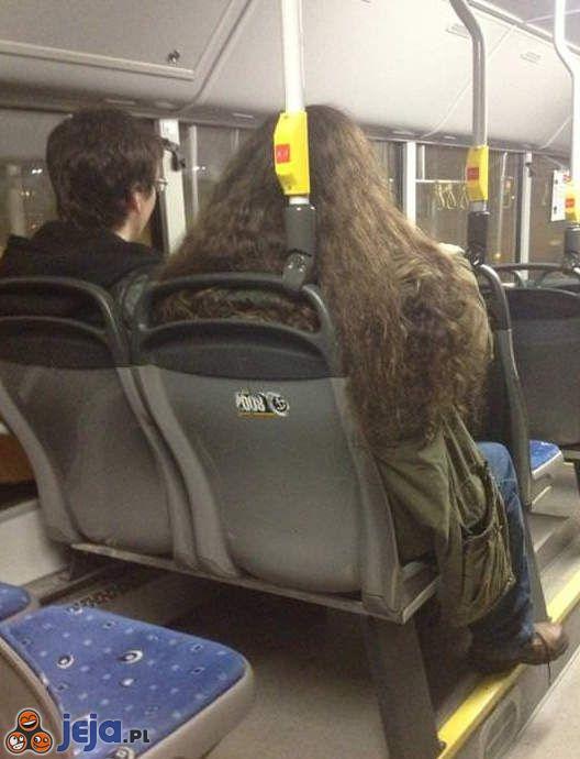 Harry i Hagrid w autobusie