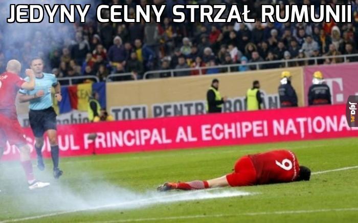 Jedyny celny strzał Rumunii