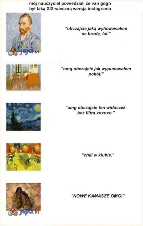 Van Gogh zapoczątkował Instagram