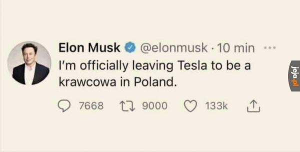 Elon podjął decyzję