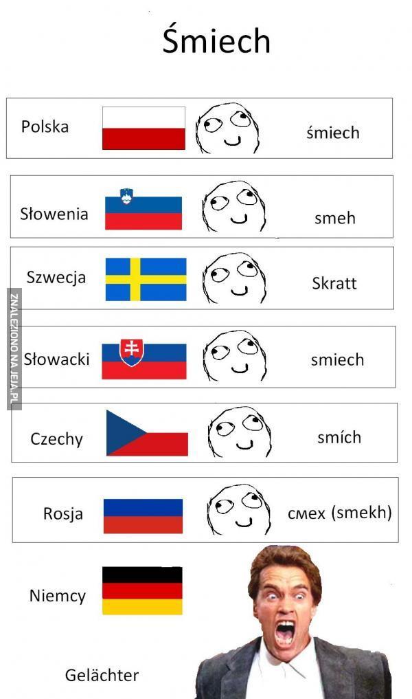 """Jak się mówi """"śmiech"""" w kilku krajach"""