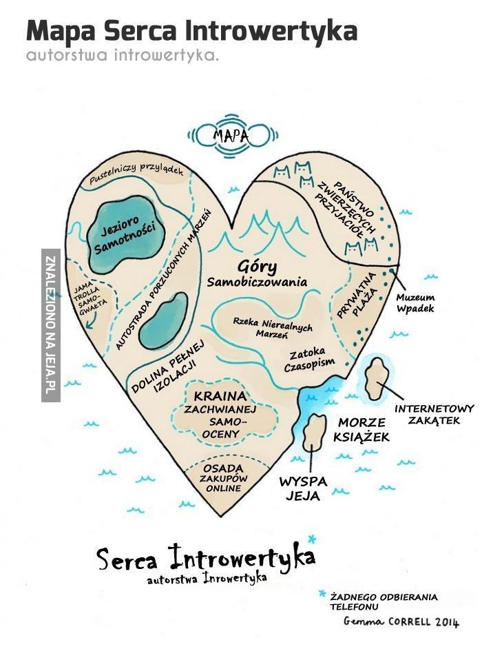 Mapa Serca Introwertyka, co by się nie zgubić