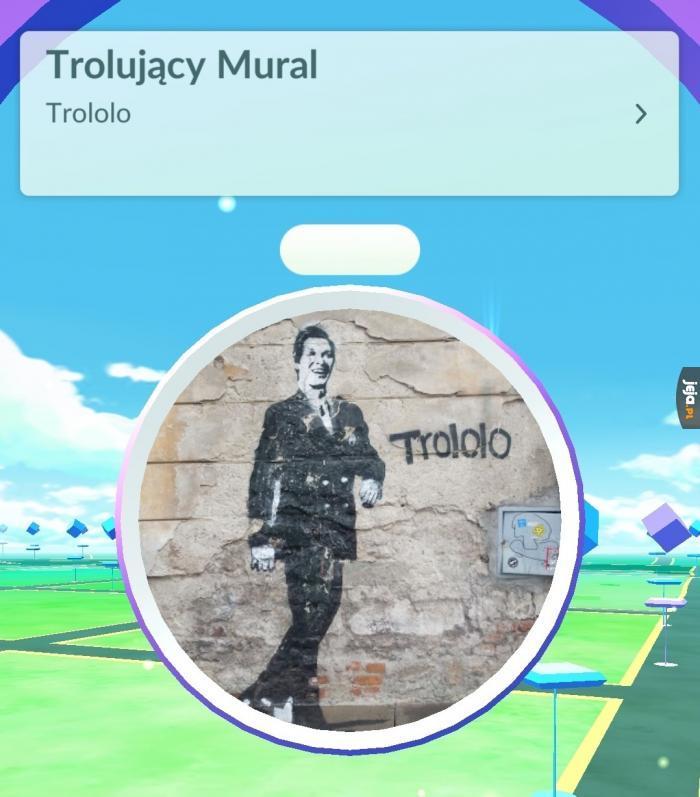 Trolujący mural