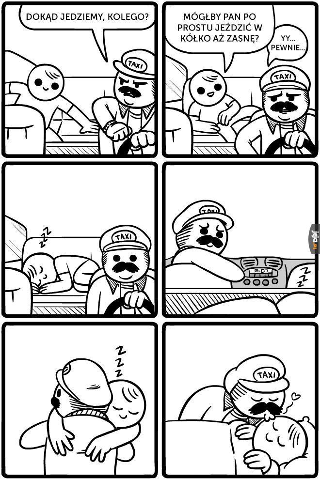 Dobry ziomek taksówkarz