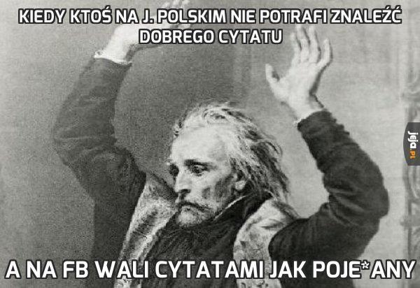 Kiedy ktoś na j. polskim nie potrafi znaleźć dobrego cytatu