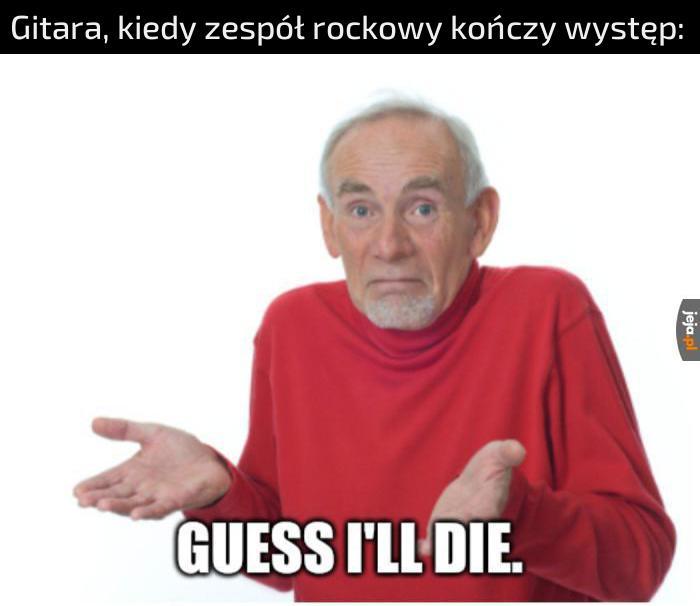 Ciężkie życie gitar rockowych