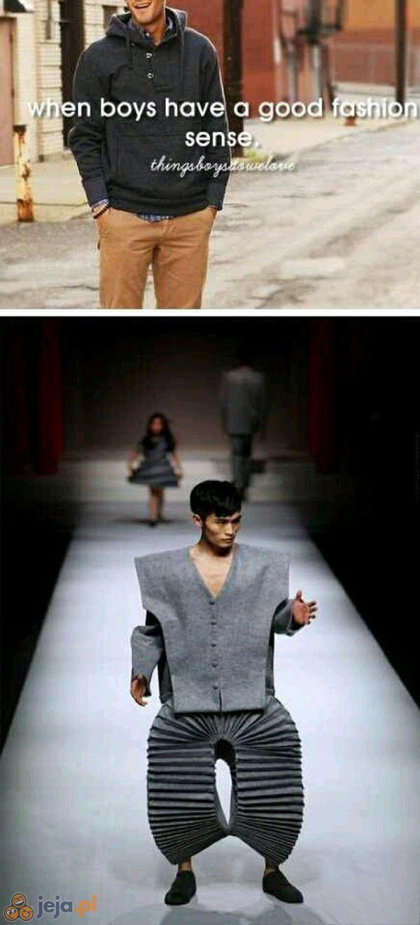 Kiedy chłopcy znają się na modzie