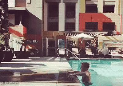 Bo zwykłe wychodzenie z basenu jest zbyt mainstreamowe