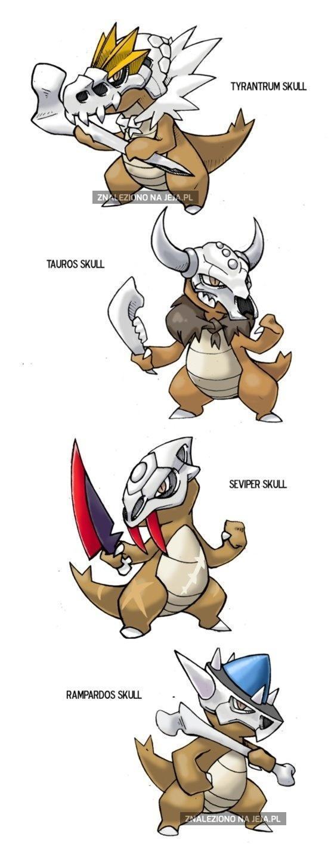Marowak z czaszkami innych pokemonów