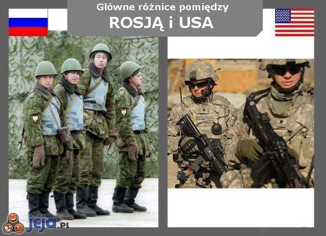 Rosja vs USA - Mundury
