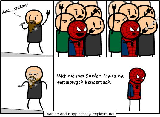 Spiderman na koncertach