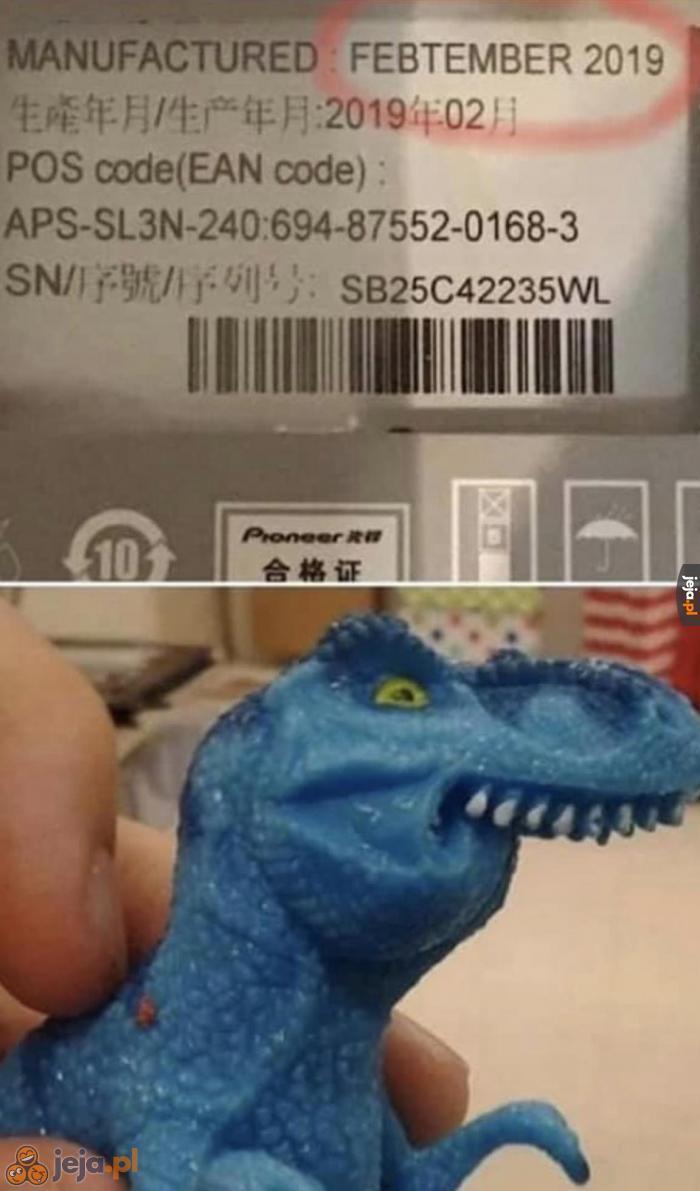 Feplemiący dinozauf