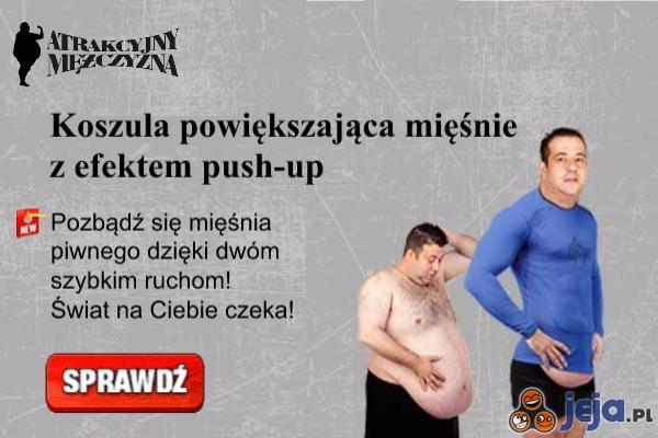 Koszulka powiększająca mięśnie