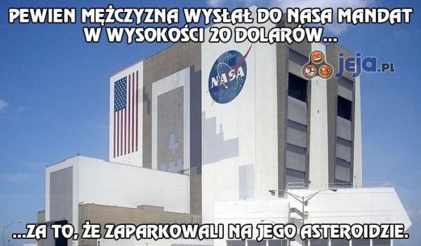 Wysłał mandat do NASA