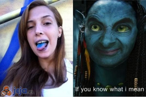 Niebieski język...