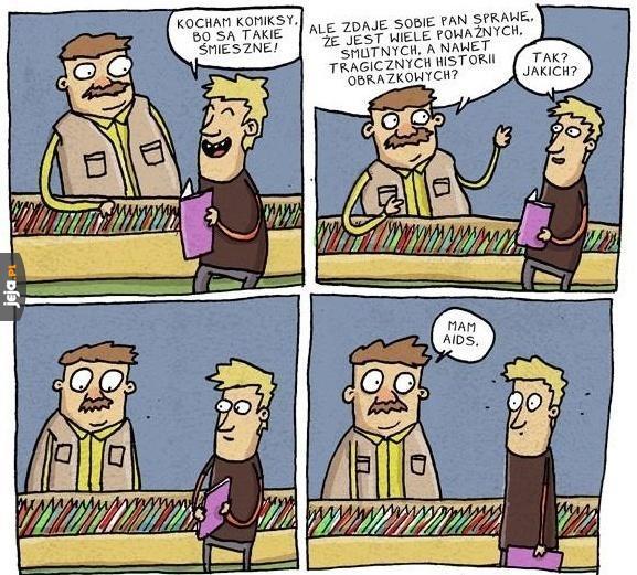 Są różne komiksy...
