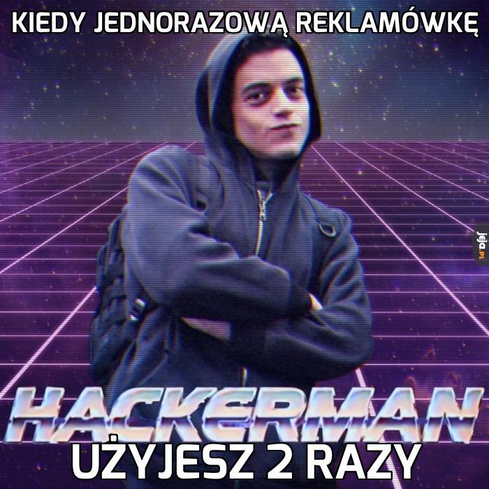 Haker jednorazowej reklamówki
