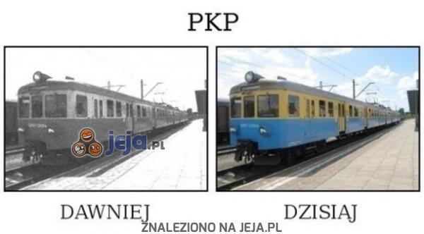 PKP kiedyś i dziś