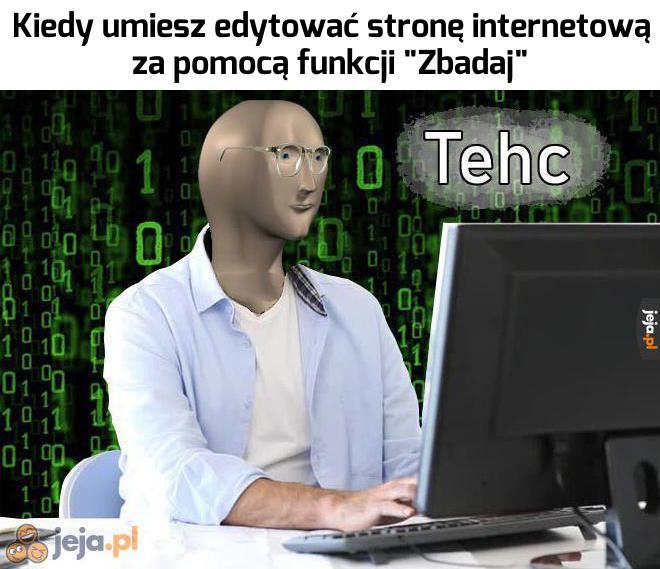 Niczym prawdziwy informatyk