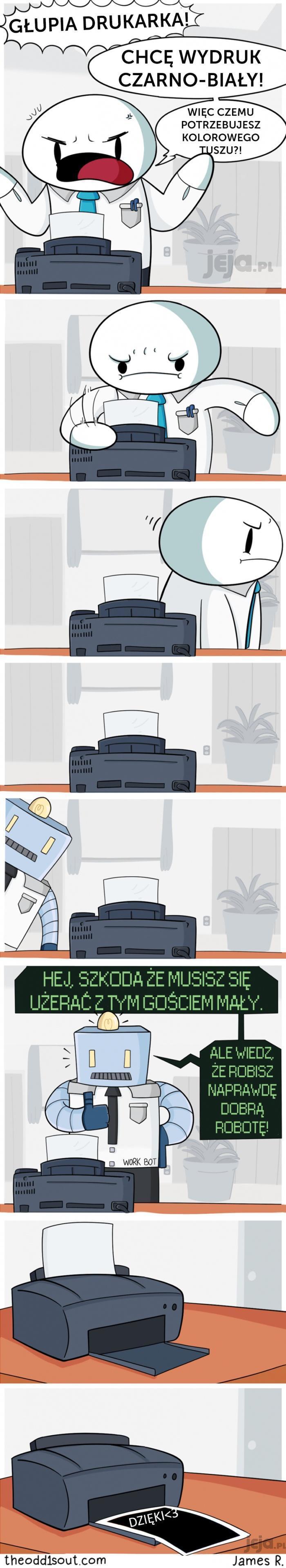 Głupie drukarki też maja uczucia