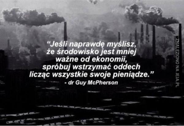 Środowisko jest równie ważne co ekonomia