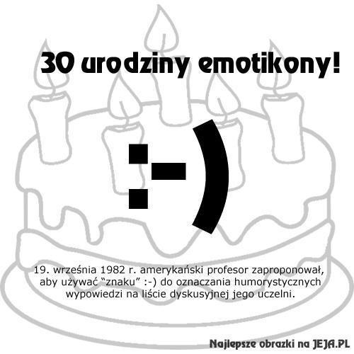 30 lat emotikony :-)