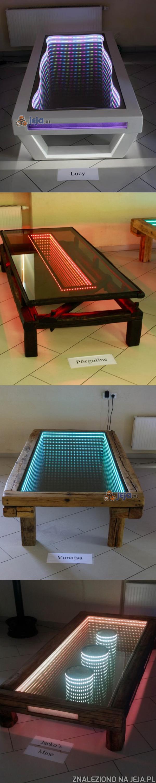 Ręcznie robione stoły nieskończoności