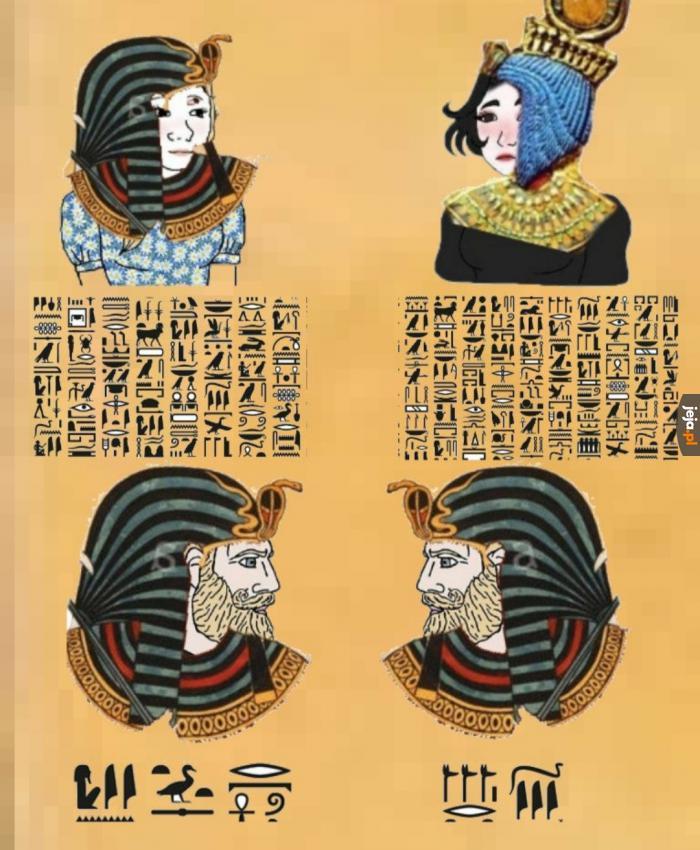Starożytne egipskie śmieszki