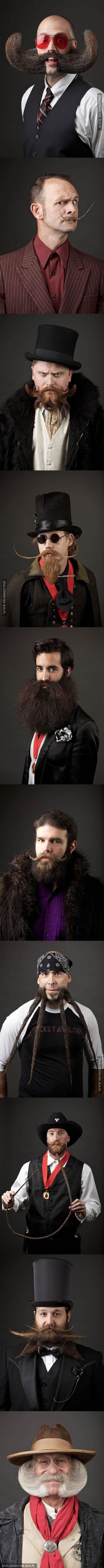 Uczestnicy międzynarodowych Mistrzostw Brody i Wąsów 2014