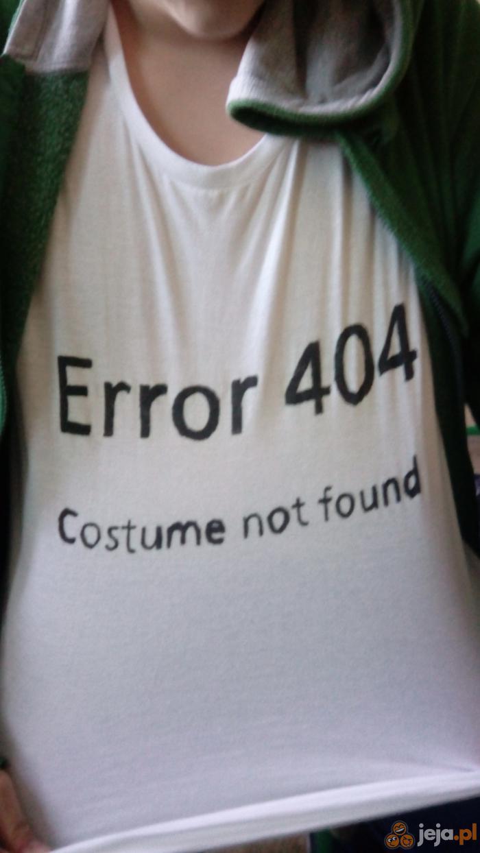 Idealna koszulka na Halloween