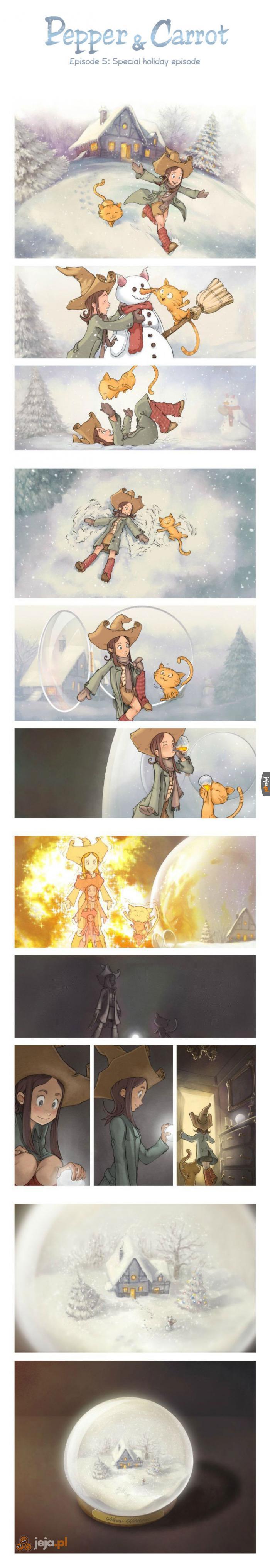 Świąteczny komiks o wiedźmie i jej kocie