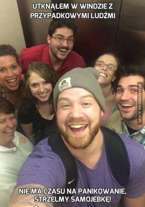 Utknąłem w windzie z przypadkowymi ludźmi