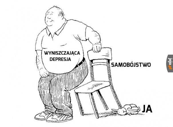 Zajączek i ukrywanie wyniszczającej depresji memami