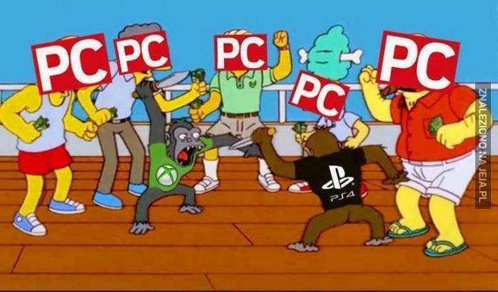 Walka Xbox'a i PS