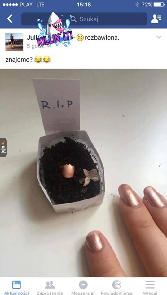 Nie ma to jak zrobić pogrzeb tipsowi