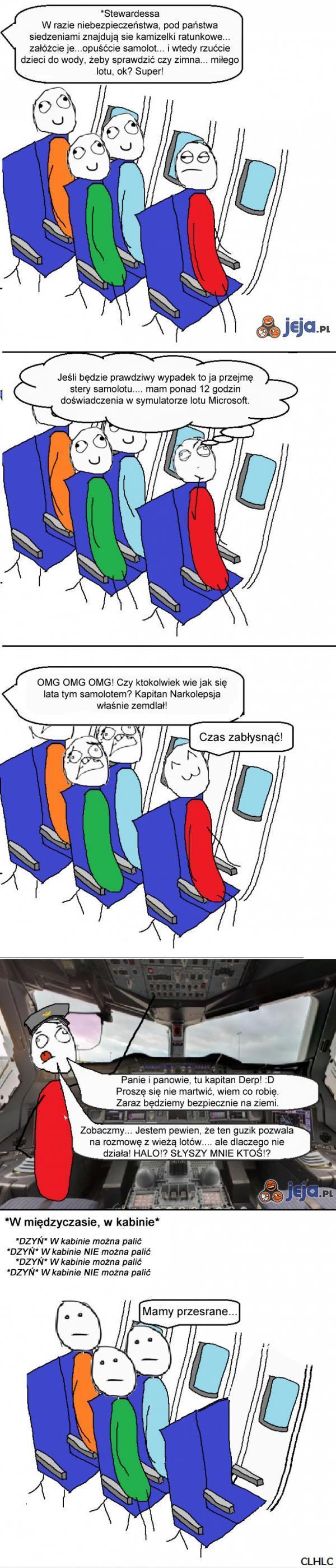 Awaria w samolocie