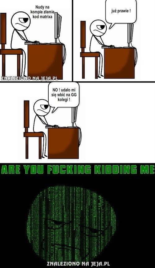 Łamanie kodu do Matrixa