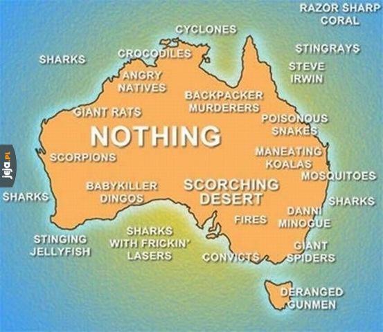 Szczegółowa geografia Australii